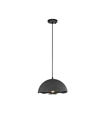 Kichler 43000WZC Fracture 1 Light Pendant in Weathered Zinc