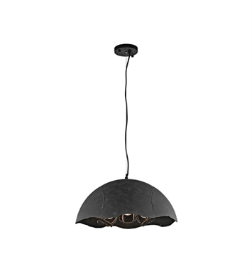 Kichler 43001WZC Fracture 3 Light Pendant in Weathered Zinc