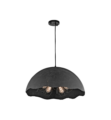 Kichler 43002WZC Fracture 5 Light Pendant in Weathered Zinc