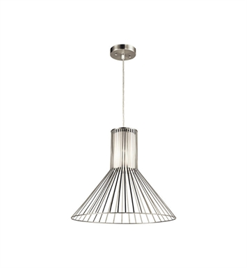 Kichler 43245NI Boite 1 Light Pendant in Brushed Nickel
