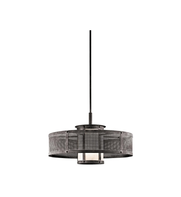 Kichler 43574WZC Argesto 1 Light Pendant in Weathered Zinc