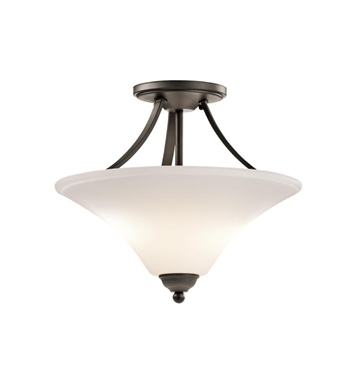 Kichler 43512OZ Keiran 2 Light Semi Flush in Olde Bronze