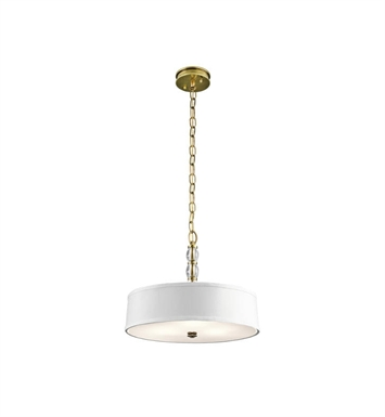 Kichler 43547NBR Rossington 3 Light Pendant-Semi Flush in Natural Brass