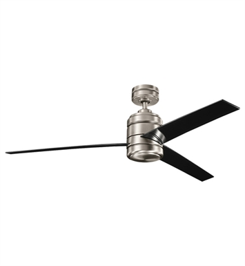 "Kichler 300146AP Arkwright 38"" Indoor Ceiling Fan with 3 Blades, Cool-Touch Remote and Downrod"