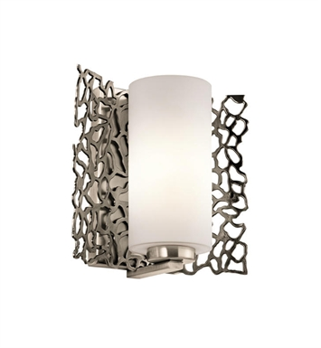 Kichler 43353CLP Silver Coral 1 Light Wall Sconce in Classic Pewter