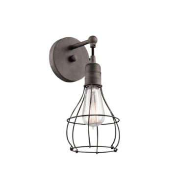 "Kichler 43603WZC Industrial Cage 1 Light 5 1/2"" Incandescent Wall Sconce in Weathered Zinc"