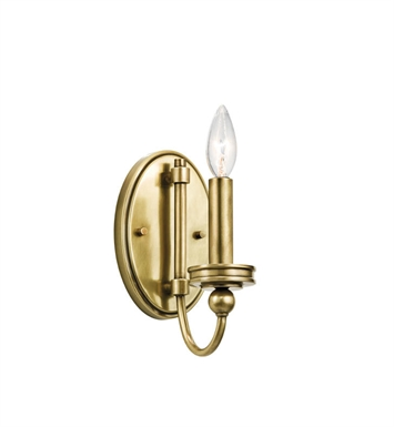 Kichler 45546NBR Rossington 1 Light Wall Sconce in Natural Brass