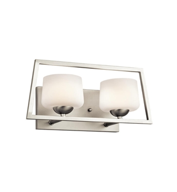 Kichler 45482NI Kalel 2 Light Bathroom Fixture in Brushed Nickel
