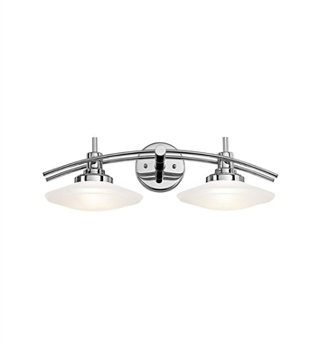 Kichler 6162CH Structures 2 Light Bathroom Fixture in Chrome
