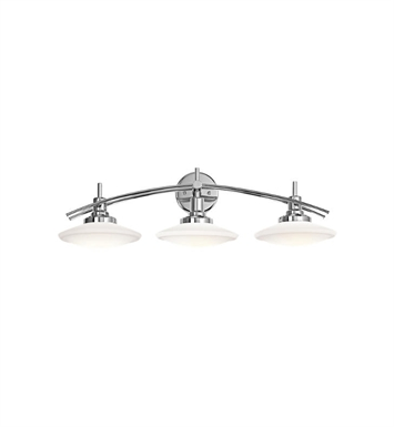 Kichler 6463CH Structures 3 Light Bathroom Fixture in Chrome