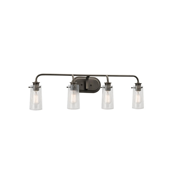 Kichler 45460OZ Braelyn 4 Light Bathroom Fixture in Olde Bronze