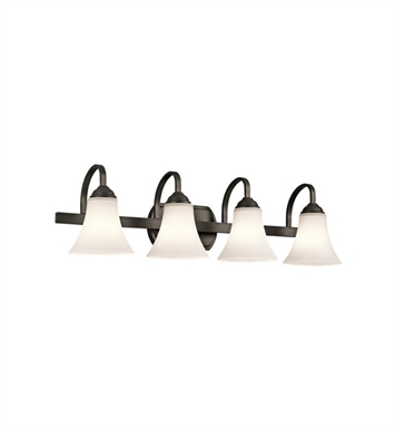 Kichler 45514OZ Keiran 4 Light Bathroom Fixture in Olde Bronze