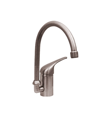Whitehaus WH-3-2851-BN Flamingo III Prep Faucet with Gooseneck Swivel Spout and Lever Handles With Finish: Brushed Nickel