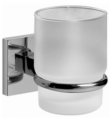 Graff G-9102-PC/BK Tumbler and Holder With Finish: Architectural Black w/ Chrome Accents