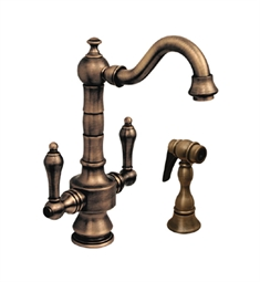 Whitehaus WHKSDTLV3-8204 Vintage III Prep Faucet with Short Traditional Swivel Spout