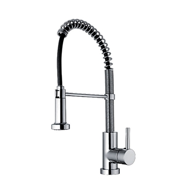 Whitehaus WH2070079-BN Jem Collection Commercial Kitchen Faucet with Flexible Spout With Finish: Brushed Nickel