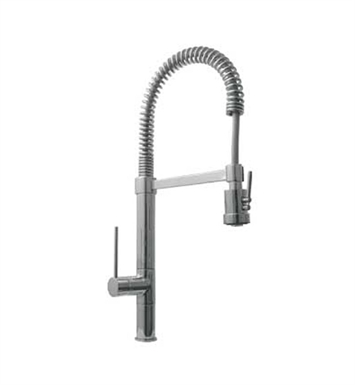 Whitehaus WHLX78557S-BN Metrohaus Commercial Kitchen Faucet with Flexible Spout and Pull Down Spray Head With Finish: Brushed Nickel