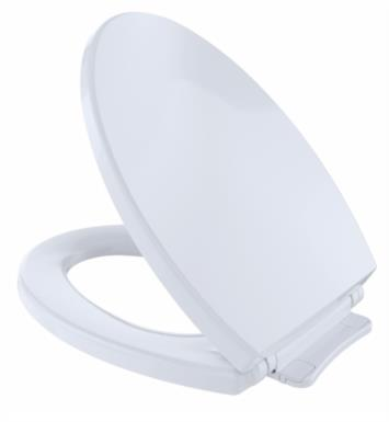 "TOTO SS114#11 SoftClose 14"" Elongated Closed Front Toilet Seat and Cover With Finish: Colonial White"