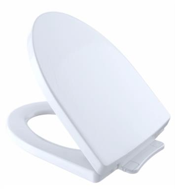 "TOTO SS214#01 Soiree 14 1/4"" SoftClose Elongated Toilet Seat With Finish: Cotton White"