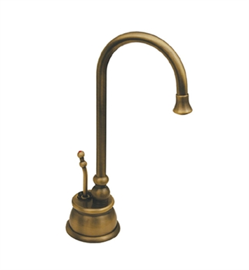 Whitehaus WHFH-H4540-AB Forever Hot instant hot/cold water dispenser with traditional spout and self closing hot water handle With Finish: Antique Brass