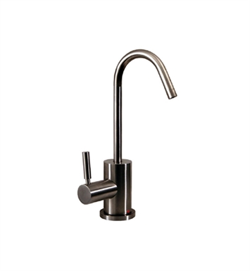 Whitehaus WHFH-H1400-BN Forever Hot instant hot water dispenser with gooseneck spout and a self closing hot water handle With Finish: Brushed Nickel