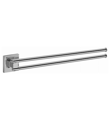 Graff G-9103-PC/BK Towel Bar With Finish: Architectural Black w/ Chrome Accents