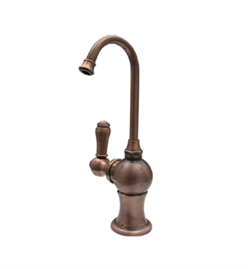 Whitehaus WHFH3-H4130-ACO Forever Hot instant hot water dispenser with gooseneck spout and self closing handle With Finish: Antique Copper
