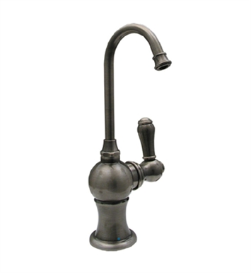Whitehaus WHFH3-C4120-P Point of use drinking water faucet with gooseneck spout With Finish: Pewter