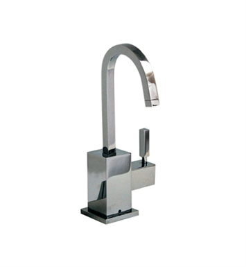 Whitehaus WHSQ-C003 Q-Haus contemporary square design point of use drinking water faucet with gooseneck spout