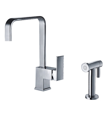 Whitehaus WH2070824 Jem Collection single lever handle faucet with a solid brass side spray