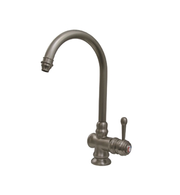 Whitehaus WH17606-AB Evolution colonial style single hole/single lever mixer with gooseneck swivel spout With Finish: Antique Brass