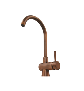 Whitehaus WH16606-AB Evolution arcade single hole/single lever mixer with a gooseneck swivel spout With Finish: Antique Brass