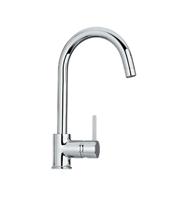 Whitehaus WHLX78572 Luxe single hole/single lever faucet with gooseneck swivel spout