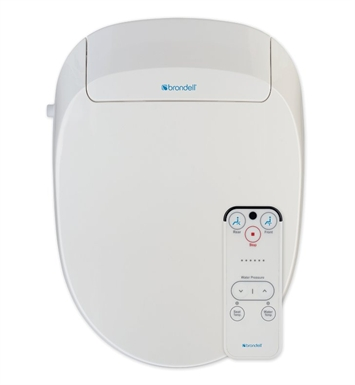 Brondell S300-EW Swash 300 Advanced Bidet Toilet Seat With Finish: White And Toilet Seat / Washlet Shape: Elongated