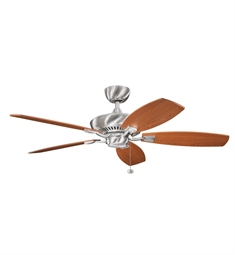 "Kichler 300117BSS Canfield 52"" Indoor Ceiling Fan with Blades and Downrod"
