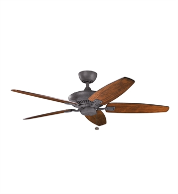 "Kichler 300117DBK Canfield 52"" Indoor Ceiling Fan with Blades and Downrod"