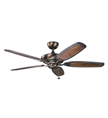 "Kichler 300117OBB Canfield 52"" Indoor Ceiling Fan with Blades and Downrod"