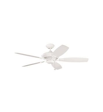 "Kichler 300117SNW Canfield 52"" Indoor Ceiling Fan with Blades and Downrod"