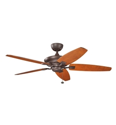"Kichler 300117TZ Canfield 52"" Indoor Ceiling Fan with Blades and Downrod"