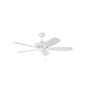 "Kichler 300117WH Canfield 52"" Indoor Ceiling Fan with Blades and Downrod"