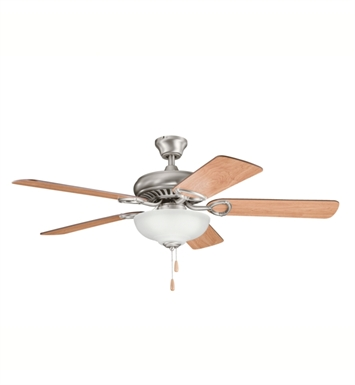 "Kichler 339211AP Sutter Place Select 52"" Indoor Ceiling Fan with 5 Blades and Downrod"