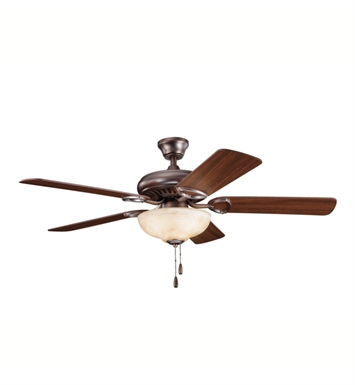 "Kichler 339211OBB Sutter Place Select 52"" Indoor Ceiling Fan with 5 Blades and Downrod"
