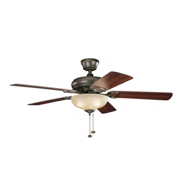 "Kichler 339211OZ Sutter Place Select 52"" Indoor Ceiling Fan with 5 Blades and Downrod"