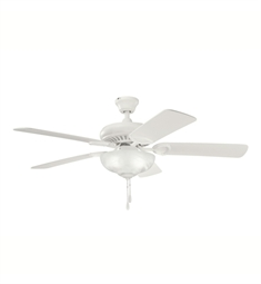 "Kichler 339211SNW Sutter Place Select 52"" Indoor Ceiling Fan with 5 Blades and Downrod"