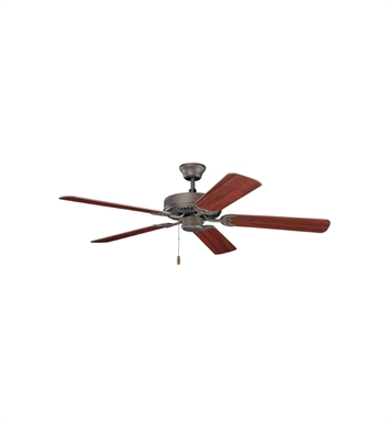 Kichler 404SNB Indoor Ceiling Fan with 5 Blades and Downrod