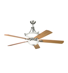 "Kichler 300011AP Olympia 60"" Indoor Ceiling Fan with 5 Blades with Cool-Touch Remote and Downrods"