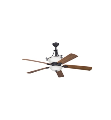 "Kichler 300011DBK Olympia 60"" Indoor Ceiling Fan with 5 Blades with Cool-Touch Remote and Downrods"