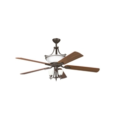 "Kichler 300011OZW Olympia 60"" Indoor Ceiling Fan with 5 Blades with Cool-Touch Remote and Downrods"