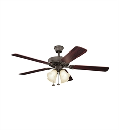 Kichler 402SNBU Indoor Ceiling Fan with 5 Blades and Downrod