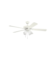 Kichler 402SNW Indoor Ceiling Fan with 5 Blades and Downrod